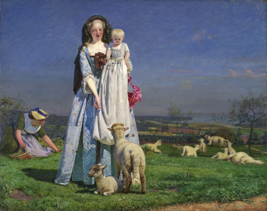 Ford Maddox Brown - The Pretty Baa Lambs, 1851. Image courtesy of Tate