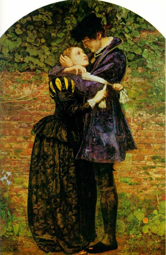 John Everett Millais - A Huguenot, on St. Bartholomew's Day, Refusing to Shield Himself from Danger by Wearing the Roman Catholic Badge, 1852. Image from Wikipedia