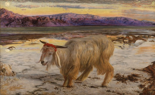 William Holman Hunt - The Scapegoat, 1854. Image from Wikipedia