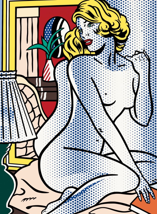 Blue Nude 1995 Private Collection © Estate of Roy Lichtenstein/DACS 2012. Image from Tate.