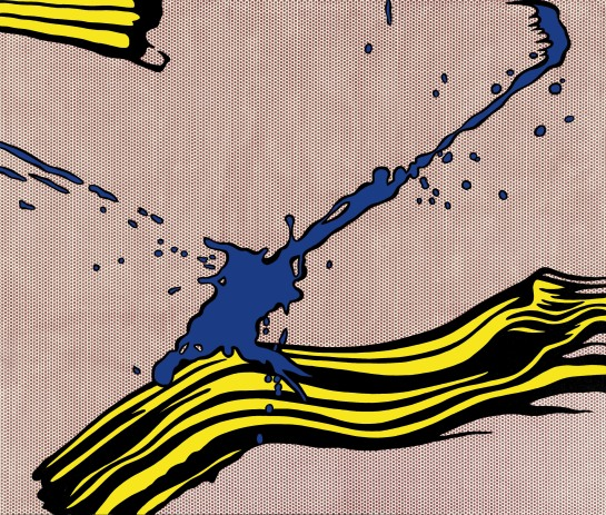 Brushstroke with Spatter 1966 The Art Institute of Chicago, Barbara Neff Smith and Solomon Byron Smith Purchase Fund © Estate of Roy Lichtenstein/DACS 2012. Image from Tate.