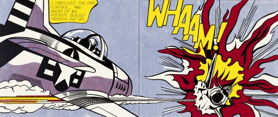 Whaam! 1963 Tate © Estate of Roy Lichtenstein/DACS 2012. Image from Tate.