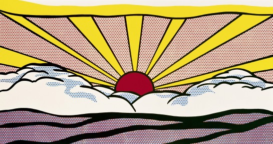 Sunrise 1965 Private collection © Estate of Roy Lichtenstein/DACS 2012. Image from Tate.