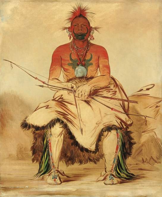 La-dóo-ke-a, Buffalo Bull, a Grand Pawnee Warrior Pawnee, George Catlin, 1832, ©Smithsonian American Art Museum