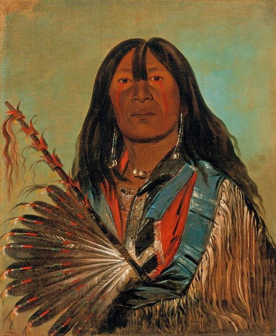 Shón-ka, The Dog, Chief of the Bad Arrow Points Band Western Sioux/Lakota, George Catlin, 1832, ©Smithsonian American Art Museum