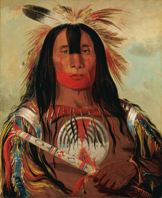 Stu-mick-o-súcks, Buffalo Bull's Back Fat, Head Chief, Blood Tribe Blackfoot/Kainai, George Catlin, 1832, ©Smithsonian American Art Museum