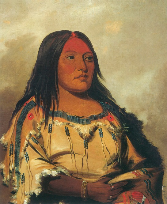 Eeh-nís-kim, Crystal Stone, Wife of the Chief Blackfoot/Kainai, George Catlin, 1832, ©Smithsonian American Art Museum