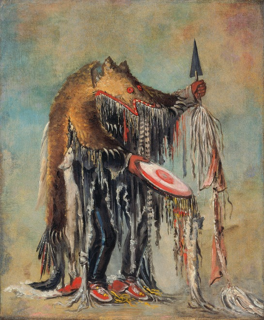 Medicine Man, Performing his Mysteries over a Dying Man Blackfoot/Siksika, George Catlin, 1832, ©Smithsonian American Art Museum