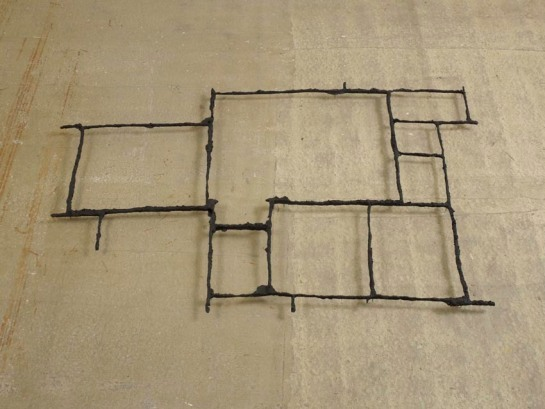 Cornelia Parker - Pavement Cracks (City of London) 2012-2013 Black patinated bronze 206 x 152 x 9 cm
