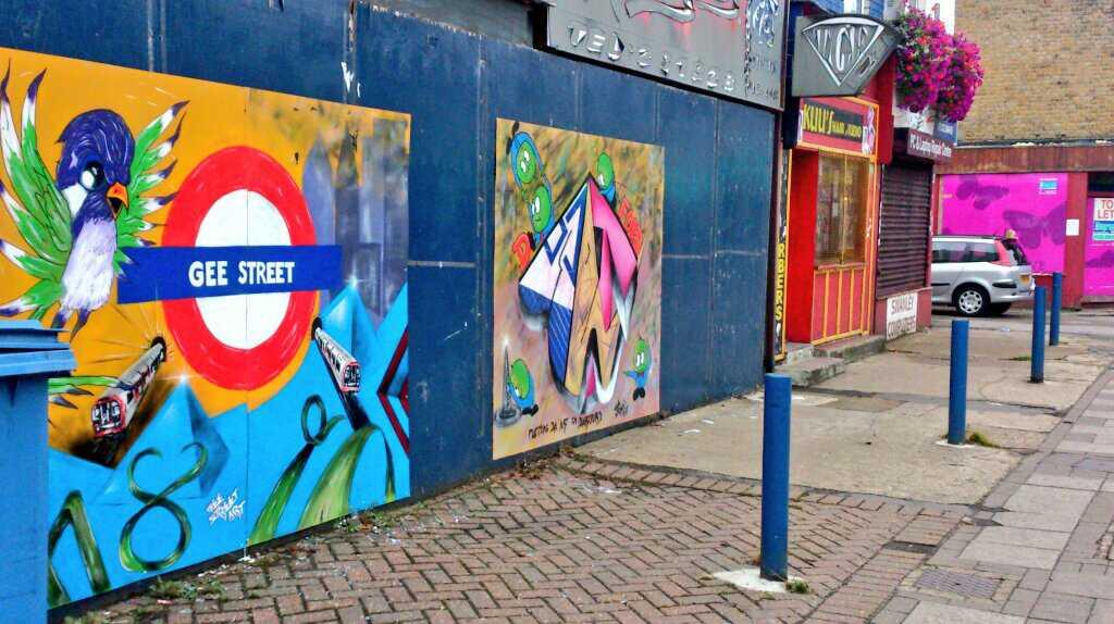 Street art by local artist Gee